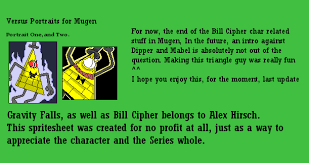 You Absolutely Should Not Be Like Bill The Smarmy Stick - bill cipher in mugen versus portraits by bayangan13 on deviantart