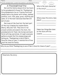 thanksgiving reading comprehension free tpt free lessons