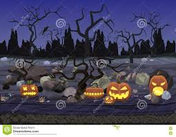 halloween free vector background dark night scary horror halloween background with pumpkin and