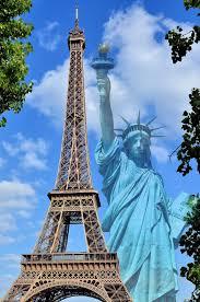 Large Eiffel Tower Statue Paris France Encircle Photos
