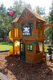 exterior awesome outdoor playsets with wooden houses and land