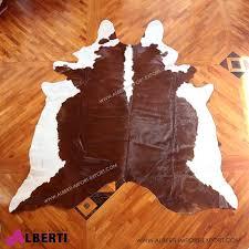 tappeti pelle di mucca pelle marrone 3 4 mq