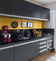 kitchen color schemes with black cabinets 26 bold black and yellow kitchen designs digsdigs