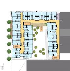 Typical Floor Plans Of Apartments David Baker Architects Richardson Apartments