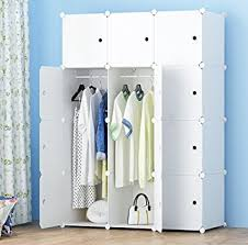 armoires for hanging clothes amazon com megafuture portable wardrobe for hanging clothes