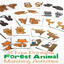 printable animal activities 3 free printable forest animal matching activities