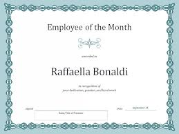 employee of the month certificate template template haven