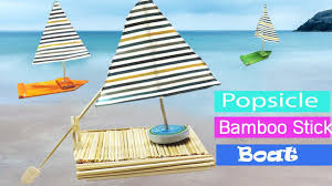 popsicle stick crafts diy boat projects for kids youtube