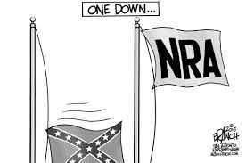 Battle Flags Of The Confederacy Confederate Battle Flag Cartoon Criticizing Nra Offensive