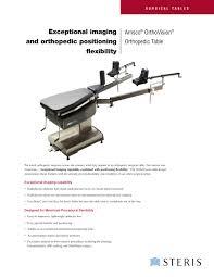 amsco orthovision orthopedic surgical table steris pdf