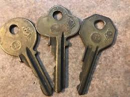 national cabinet lock key vintage antique national lock co keys 2 flat keys interior steel