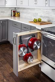 kitchen cabinet drawer peg organizer base cabinet filler with stainless steel pegboard organizer cw kitchen and bath