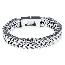 titanium steel bracelet images Trendy men stainless steel bracelet overlord thick chunky bicycle jpg