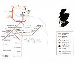 Map Of Glasgow Scotland Scotland And Scotrail Train Rail Maps