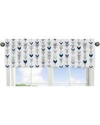 Blue Curtain Valance Get The Deal Sweet Jojo Designs Grey And Mint Mod Arrow