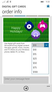 buy digital gift cards microsoft digital gift cards app for windows phone 8 1 it pro