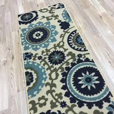 Chevron Runner Rug Chevron Runner Rug Floral Swirl Medallion Ivory Blue Multicolor
