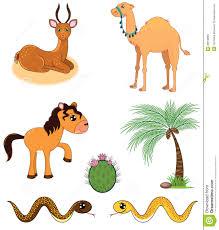 set of desert animals royalty free stock image image 29978696
