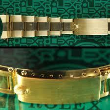 gold rolex oyster bracelet images Rolex rivited oyster bracelet 14k gold for plexi daytona 6265 jpg