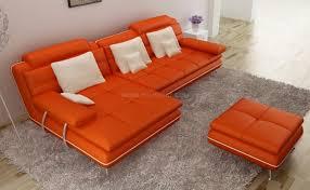 pouf pour canapé canapé d angle avec pouf en cuir italien design et pas cher modèle
