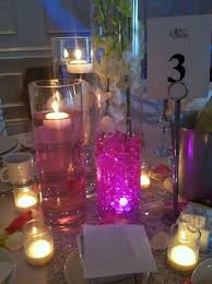 water centerpieces candle wedding centerpieces with pink water beadswedwebtalks