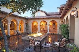 style courtyards courtyard style home plans hacienda style house plans so replica