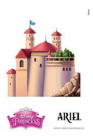 disney princess areil u0027s 3d printable castle template