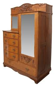 furniture exquisite picture of antique walnut wood chifferobe