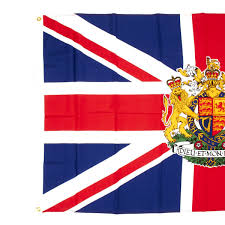 The England Flag Union Jack With The Royal Coat Of Arms Of Great Britain Flag 3
