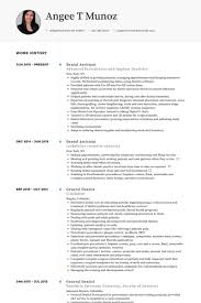 Cosmetic Resume Examples by Dental Assistant Resume Samples Visualcv Resume Samples Database