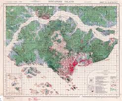 Singapore Map Asia by Singapore Colony