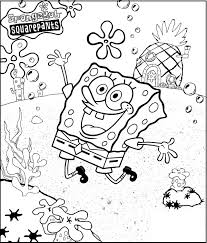 spongebob very merry coloring picture for kids spongebob