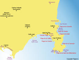 map of antibes the beautiful beaches around antibes and juan les pins