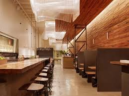 best modern wooden restaurant interior concept sustainable wood