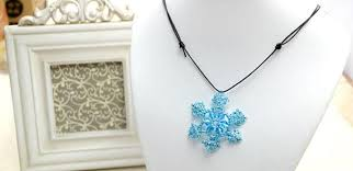 diy beaded pendant necklace images How to make a beaded snowflake pendant necklace for christmas jpg