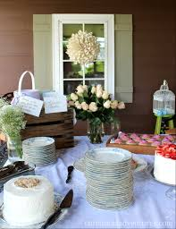Bridal Shower Decor by Vintage Bridal Shower Christinas Adventures