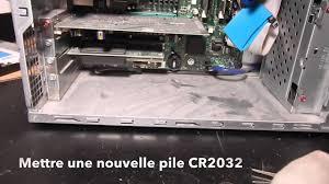 le de bureau à pile remplacer la pile de la carte mémoire d un pc dell