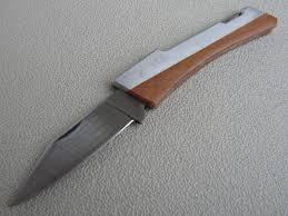 vernco hand honed folding pocket knife japan pocket knife