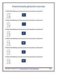 printable phonetics worksheets for esl quizzes