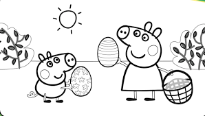 easter egg peppa pig coloring pages coloringsuite com