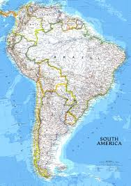 Large Scale Map Maps Of South America