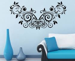 Buy Decor Kafe Decal Style Floral Creative Design Wall Sticker - Design wall decal