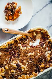 sweet potato thanksgiving dish brown butter sweet potato casserole with streusel the crepes of