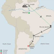 Map Of Rio De Janeiro Amazon U0026 Brazil Tours Globus Escorted Tours