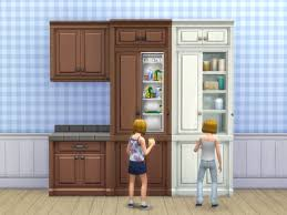 kitchen fridge cabinet mod the sims scargeaux cupboard and fridge