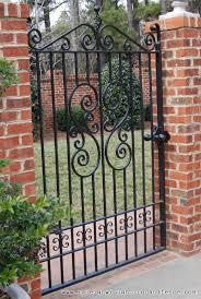 Wrought Iron Garden Decor 16 Best Fencing Images On Pinterest Metal Gates Architecture