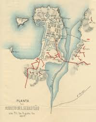 San Sebastian Spain Map by The Siege Of San Sebastian 1813 War And Security