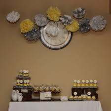 Yellow And Grey Baby Shower Theme Owl Theme Yellow And Gray Baby Shower Party Ideas Gray Baby