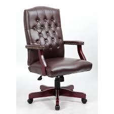 tufted leather desk chair chair desk chairs staples bonded leather executive chair brown