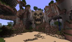 how to build a skull mountain evil base in minecraft bc gb